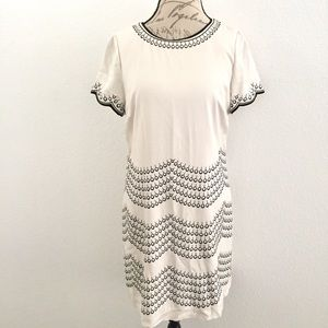 Boden Ivory Eyelet Embroidered Dress Size 14 R